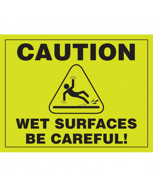 Disposable Safety Signs - Case of 11 Packs
