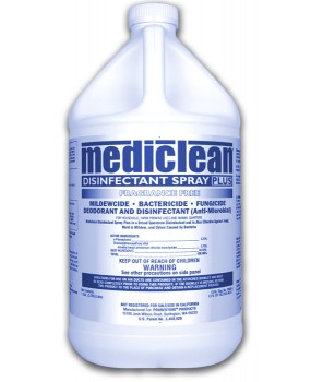 Mediclean Disinfectant Spray Frag. Free - Case of 4 Gals