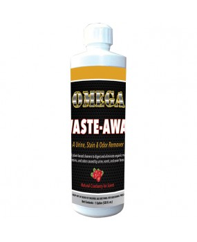 Omega Waste-Away Urine, Stain & Odor Remover – Case – 24 16 oz. Bottles